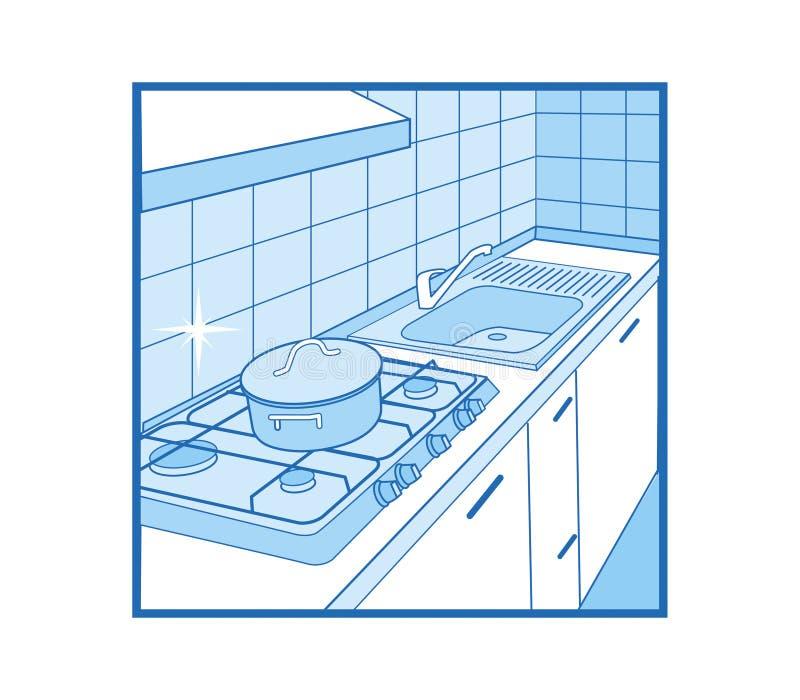 Ícone da cozinha ilustração royalty free