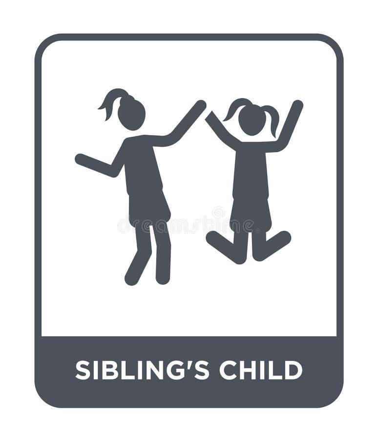 ícone da criança do irmão no estilo na moda do projeto ícone da criança do irmão isolado no fundo branco sim do ícone do vetor da ilustração stock