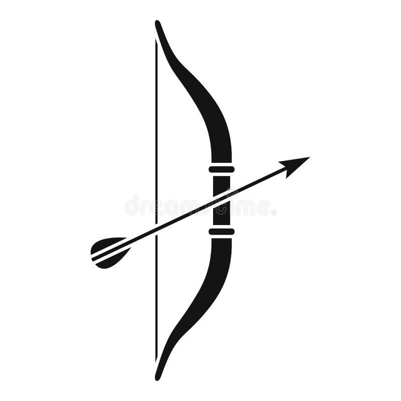 ?cone da curva da seta, estilo simples ilustração do vetor