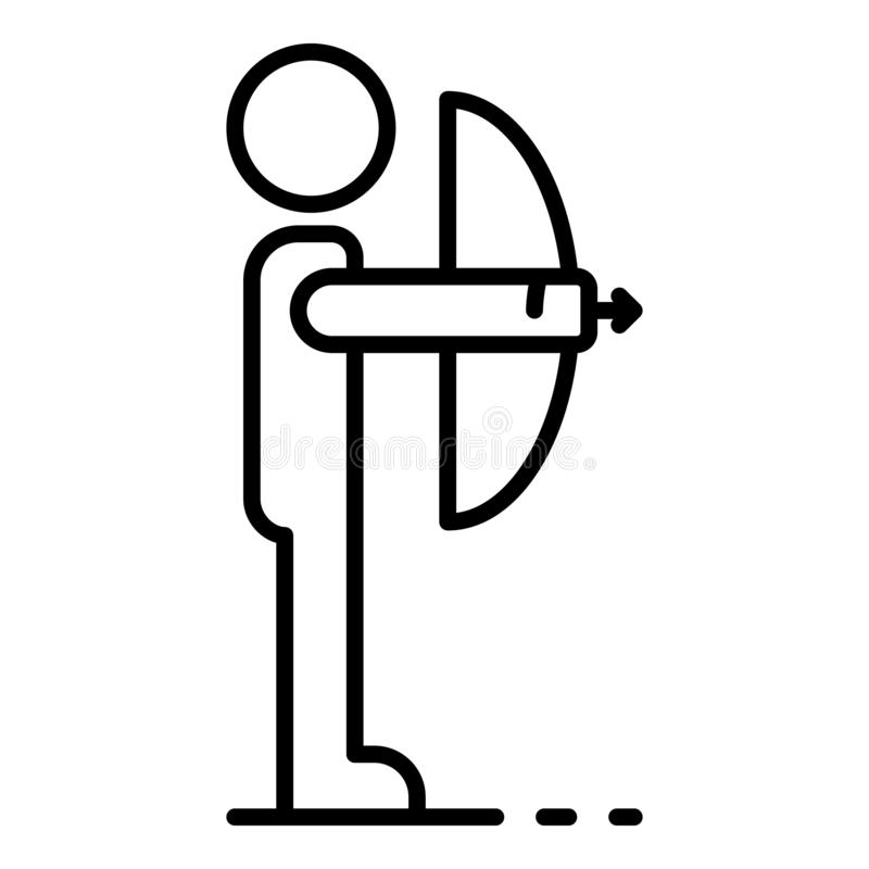 Ícone da curva da tomada do homem, estilo do esboço ilustração royalty free
