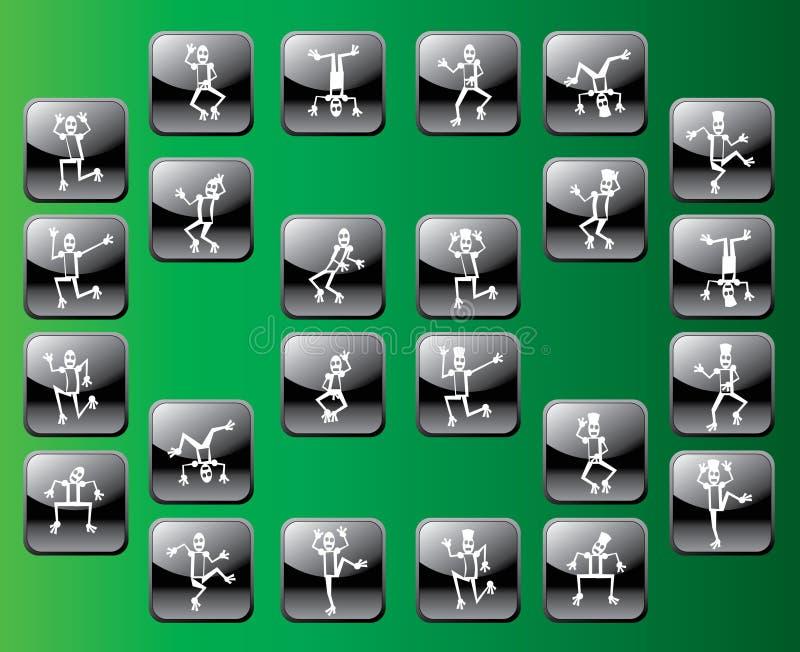 Ícone da dança ilustração stock