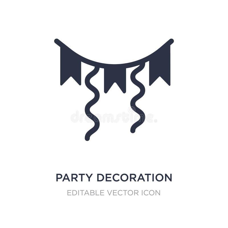 ícone da decoração do partido no fundo branco Ilustração simples do elemento do conceito geral ilustração royalty free
