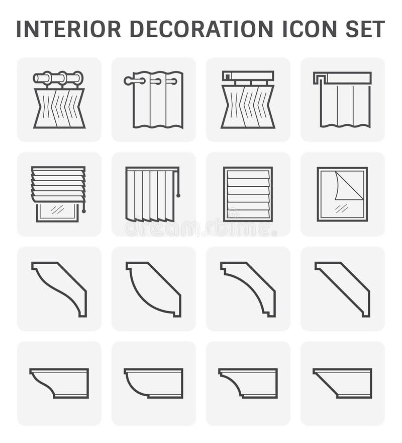 Ícone da decoração interior ilustração do vetor