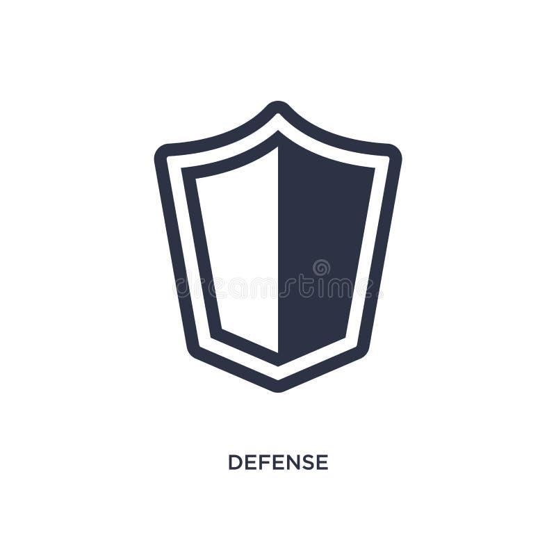 ícone da defesa no fundo branco Ilustração simples do elemento do conceito da lei e da justiça ilustração stock