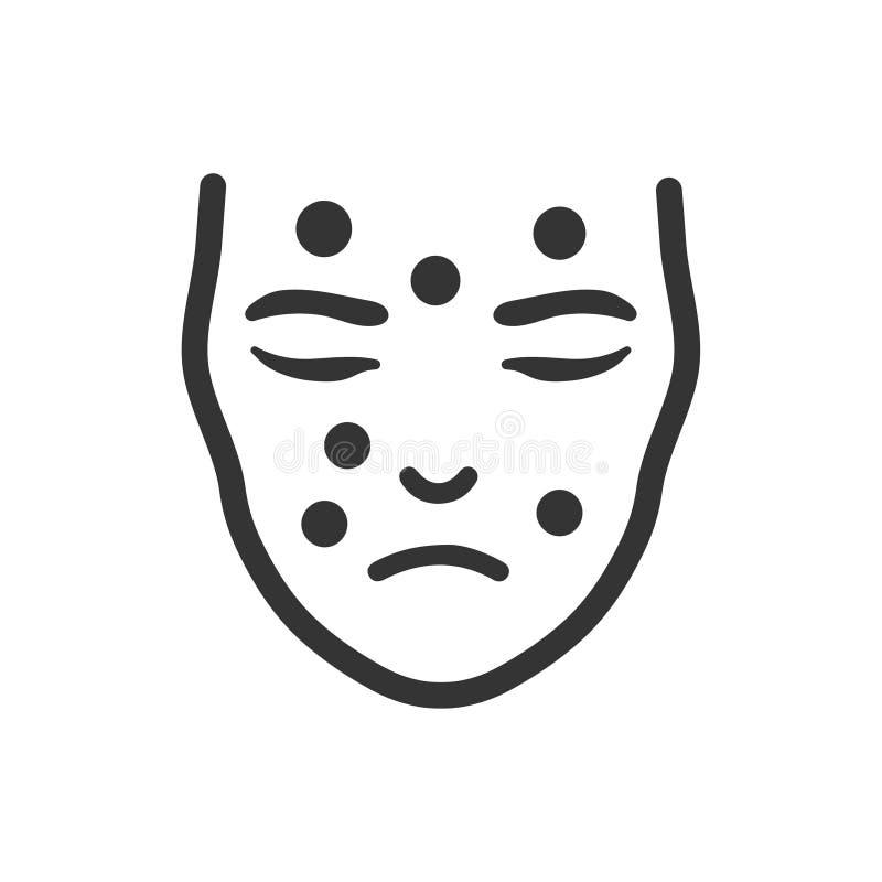 Ícone da dermatologia ilustração do vetor
