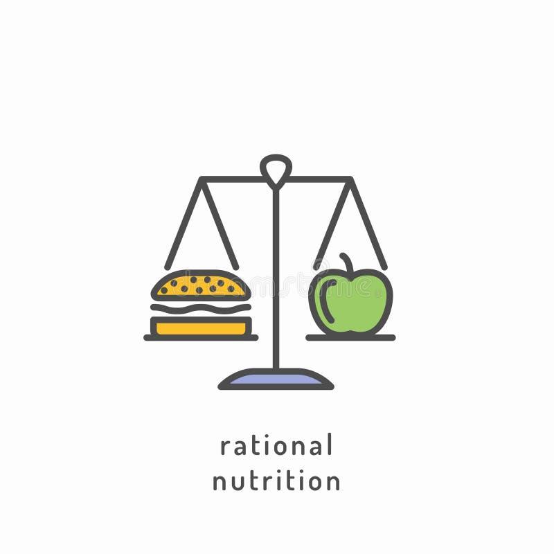 Ícone da dieta saudável ilustração royalty free