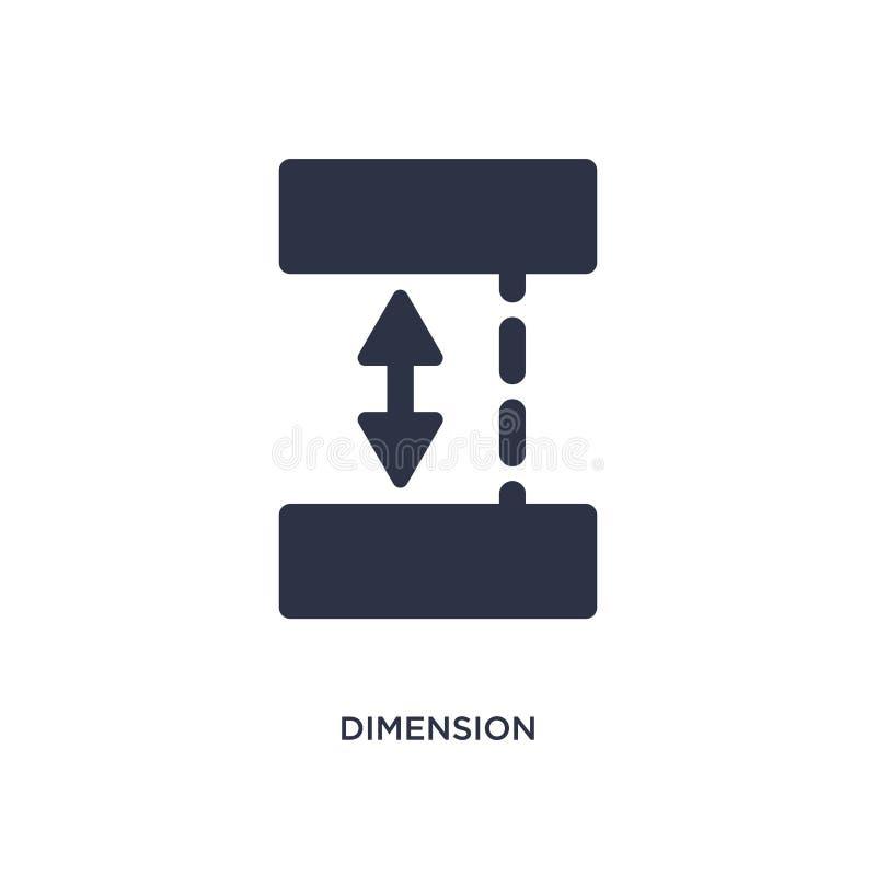 ícone da dimensão no fundo branco Ilustração simples do elemento do conceito da geometria ilustração stock