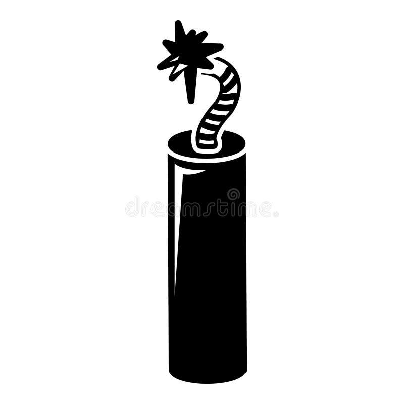 Ícone da dinamite da mina, estilo simples ilustração do vetor