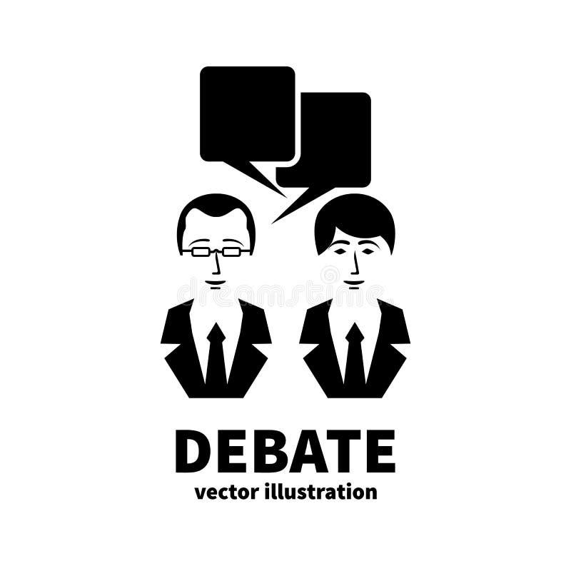 Ícone da discussão Debate do sinal ilustração royalty free