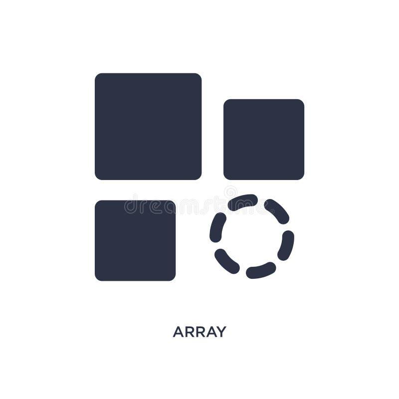 ícone da disposição no fundo branco Ilustração simples do elemento do conceito da geometria ilustração do vetor