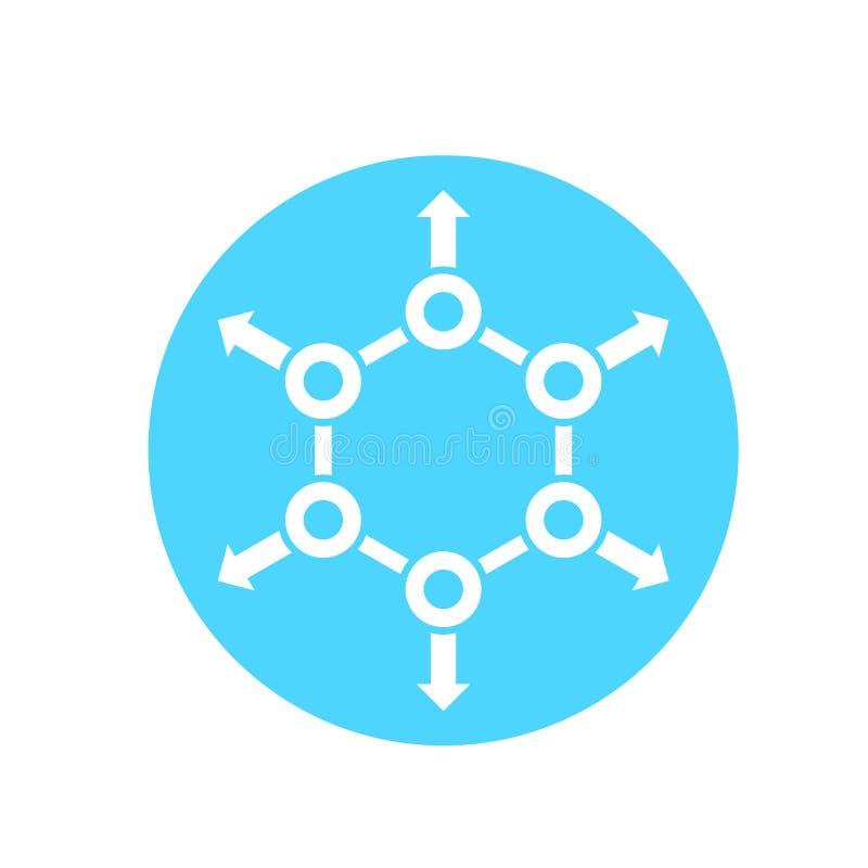 Ícone da distribuição no círculo ilustração royalty free