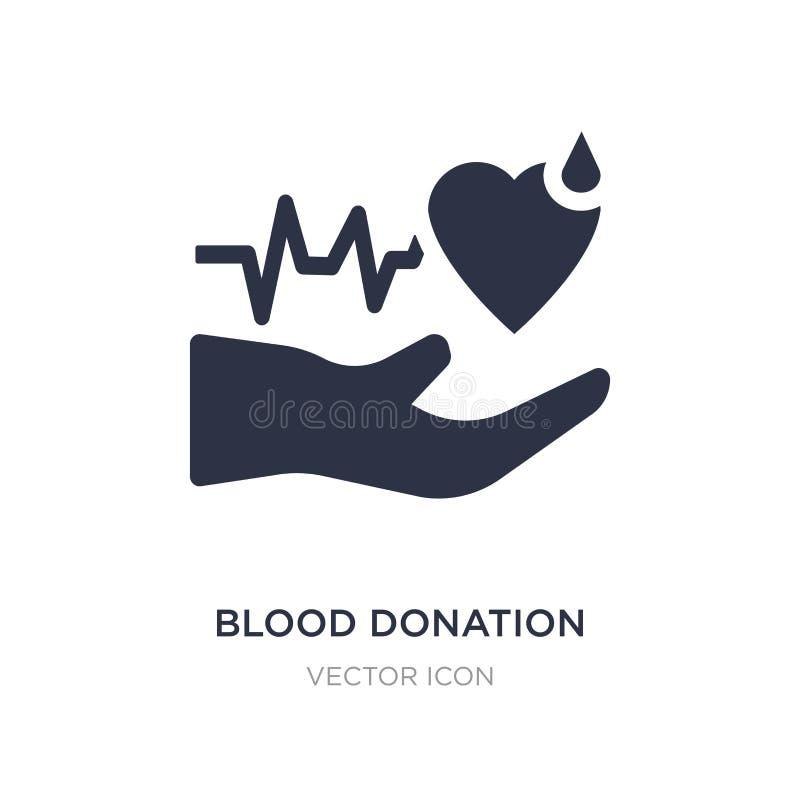 Ícone da doação de sangue no fundo branco Ilustração simples do elemento do conceito da caridade ilustração stock