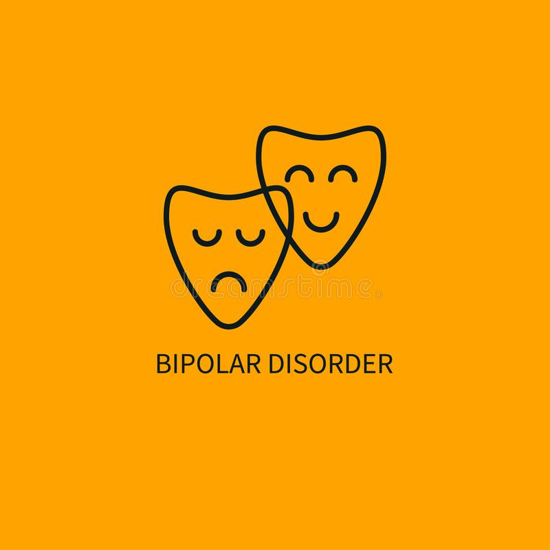 Ícone da doença bipolar ilustração royalty free