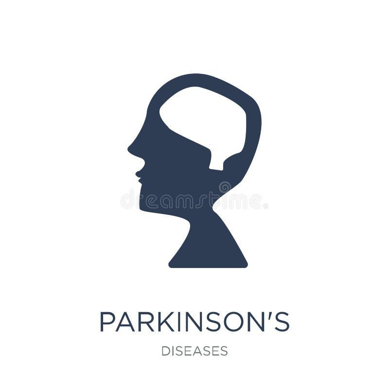 Ícone da doença de Parkinson A doença de Parkinson lisa na moda do vetor ilustração stock