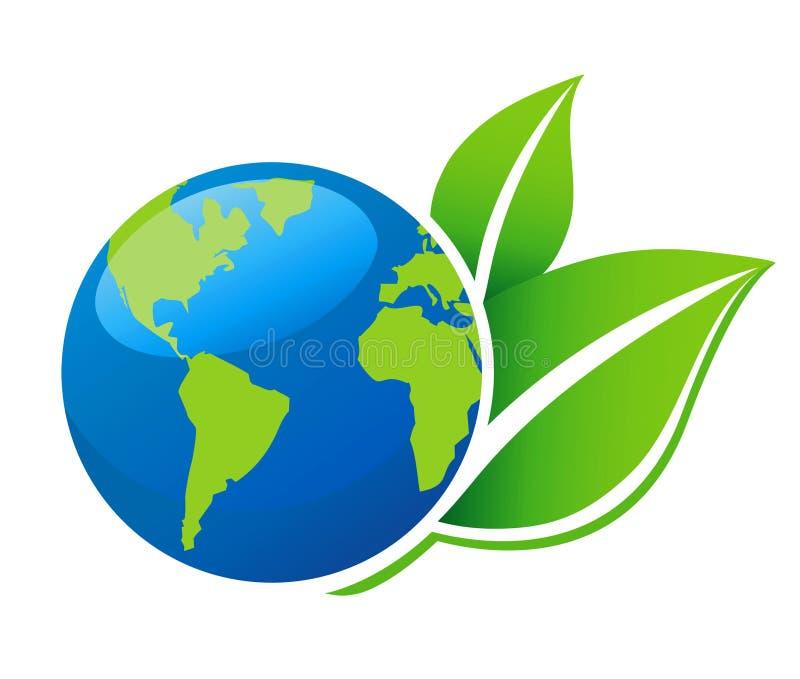 Ícone da ecologia do mundo ilustração stock