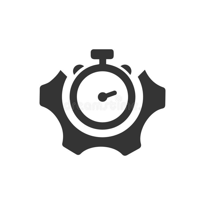 Ícone da eficiência do projeto ilustração do vetor