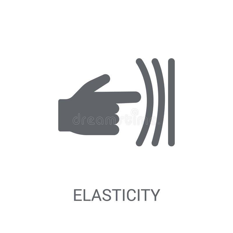 Ícone da elasticidade  ilustração do vetor