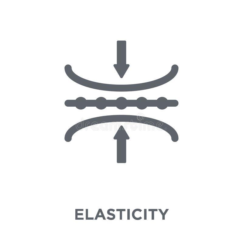 Ícone da elasticidade da coleção da elasticidade ilustração do vetor