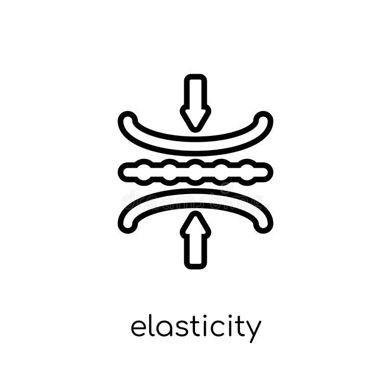 Ícone da elasticidade da coleção da elasticidade ilustração royalty free