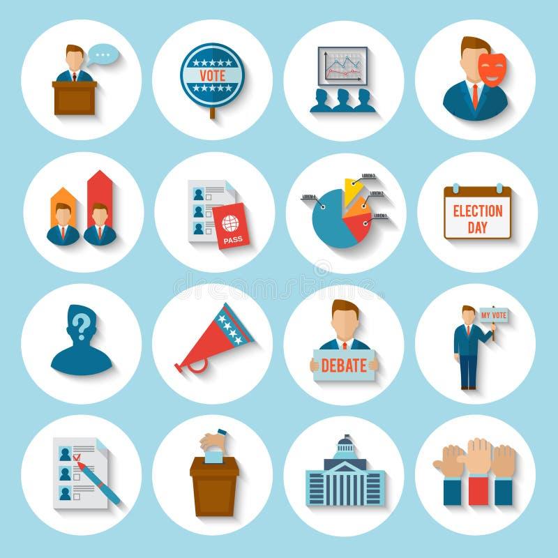 Ícone da eleição liso ilustração stock