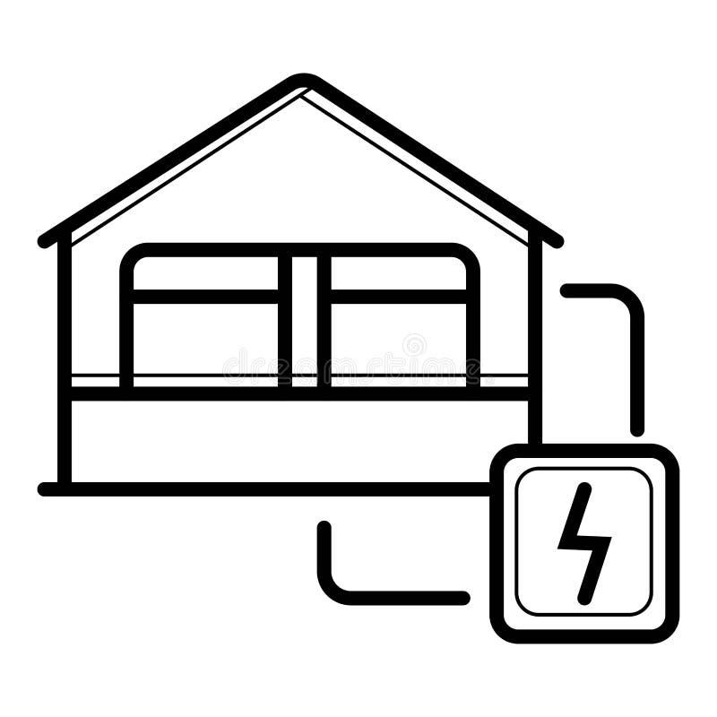 Ícone da eletricidade da casa ilustração stock