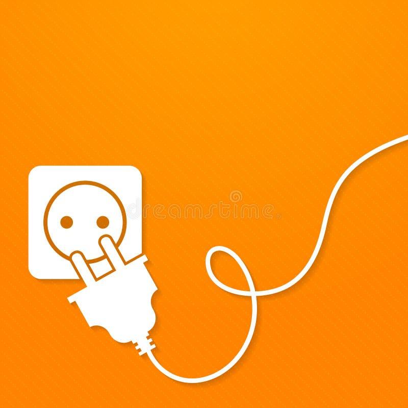 Ícone da eletricidade liso ilustração stock