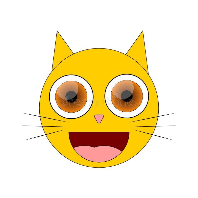 Ícone da emoção do gato, molde do projeto gráfico, ilustração do vetor ilustração royalty free