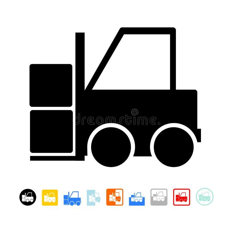 Ícone da empilhadeira ilustração stock