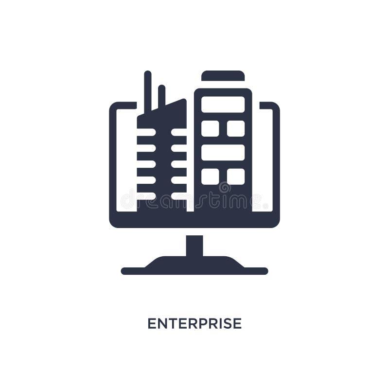 ícone da empresa no fundo branco Ilustração simples do elemento do conceito de mercado ilustração stock