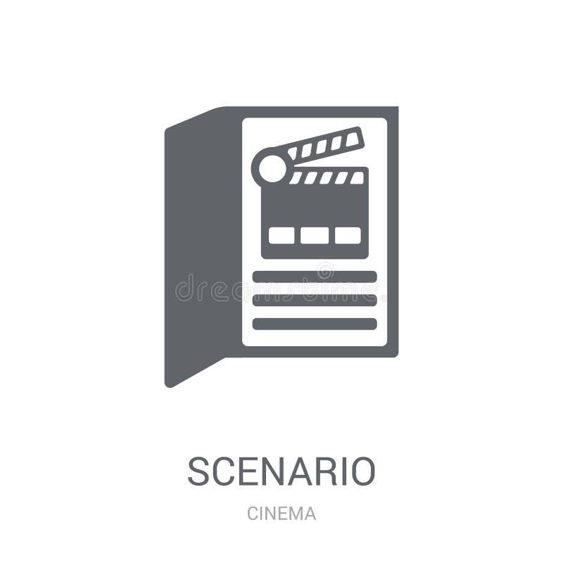 Ícone da encenação Conceito na moda do logotipo da encenação no fundo branco ilustração do vetor