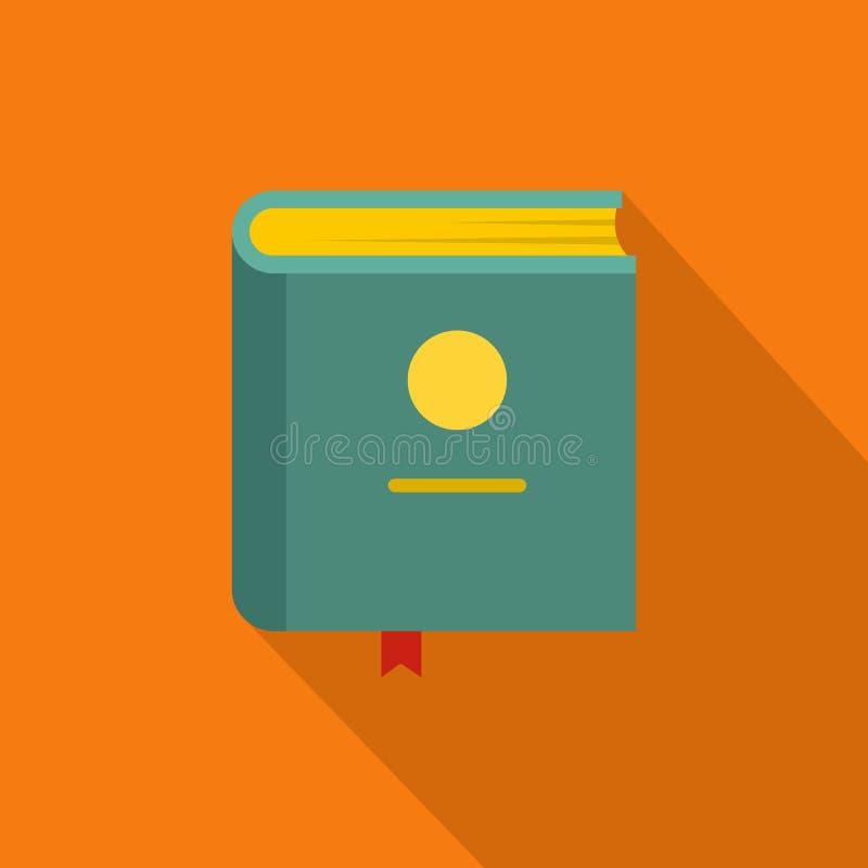 Ícone da enciclopédia do livro, estilo liso ilustração royalty free