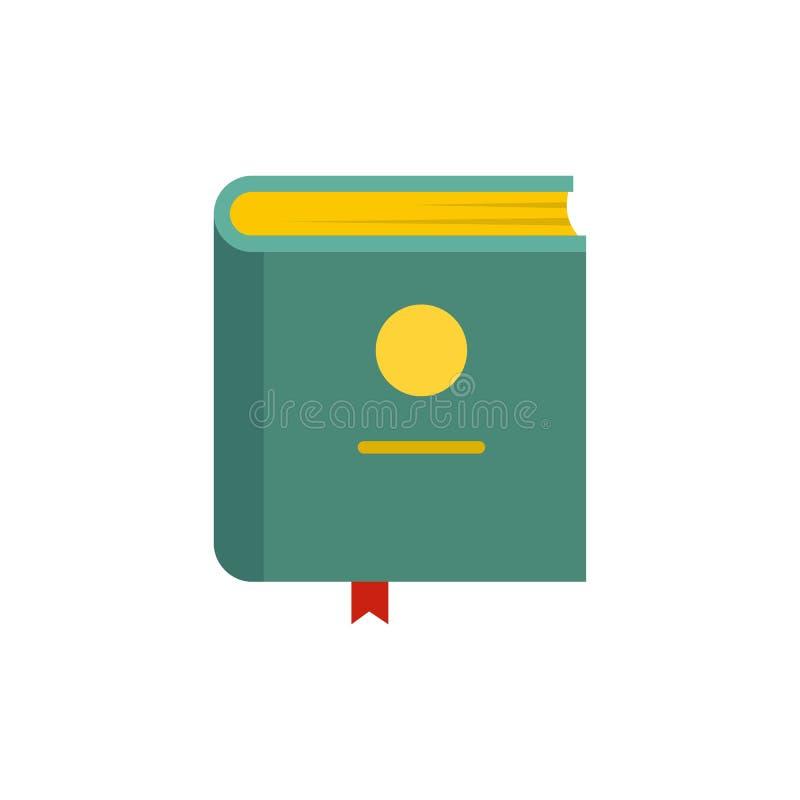 Ícone da enciclopédia do livro, estilo liso ilustração stock