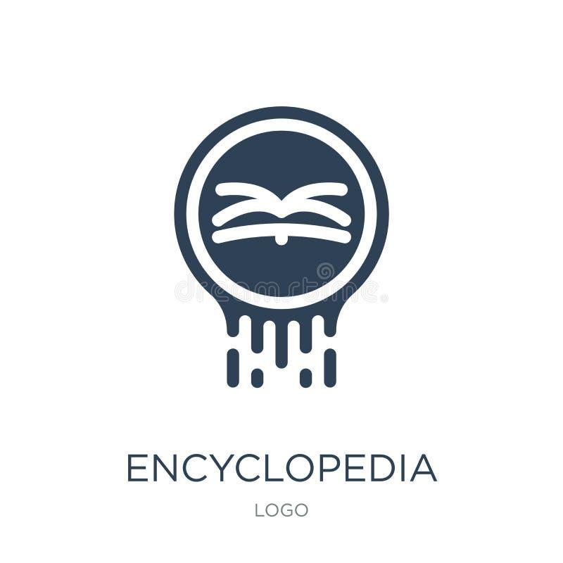 ícone da enciclopédia no estilo na moda do projeto ícone da enciclopédia isolado no fundo branco ícone do vetor da enciclopédia s ilustração royalty free