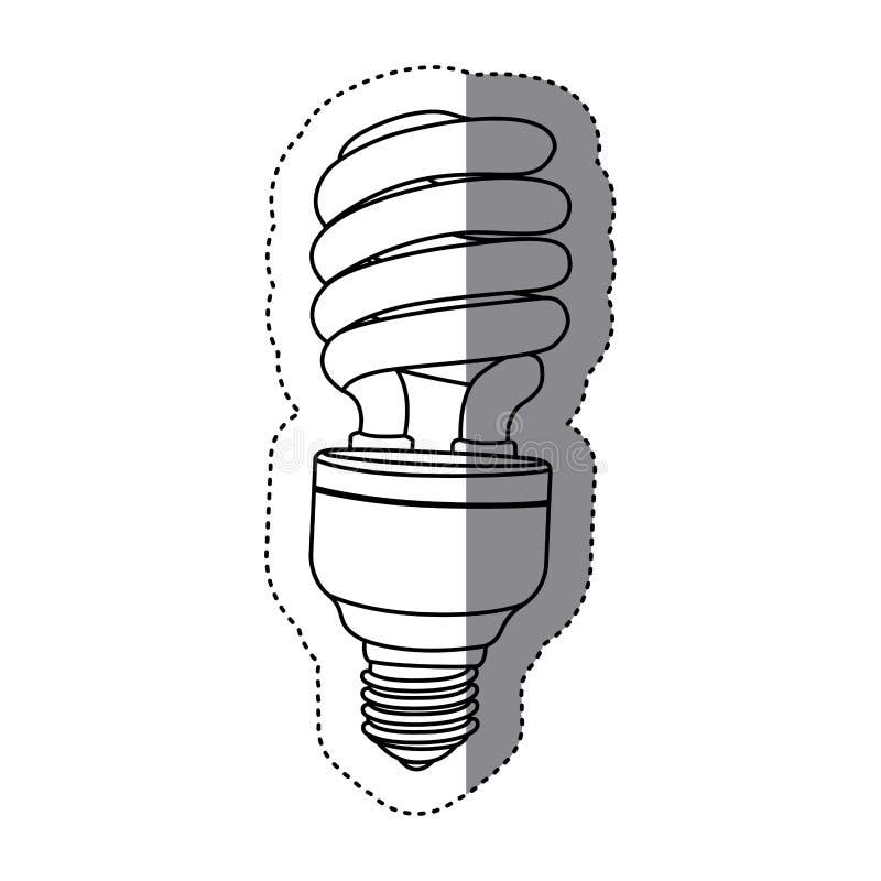 ícone da energia do bulbo da cidade ilustração stock
