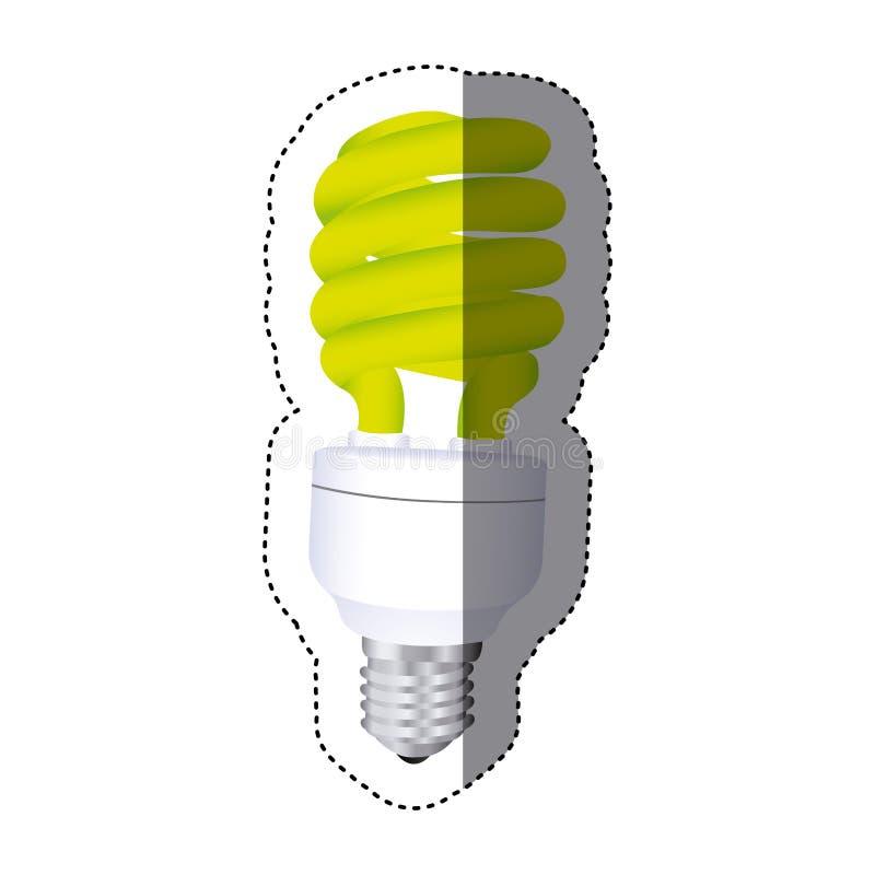 ícone da energia do bulbo da cidade ilustração royalty free