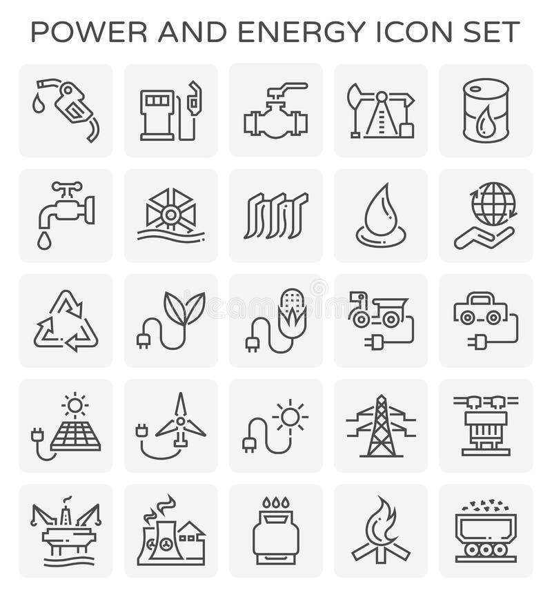 Ícone da energia do poder ilustração royalty free
