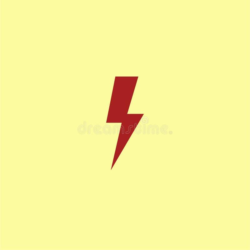 Ícone da energia elétrica de parafuso de trovão imagens de stock royalty free