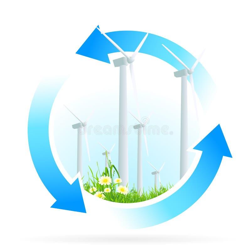Ícone da energia renovável ilustração do vetor