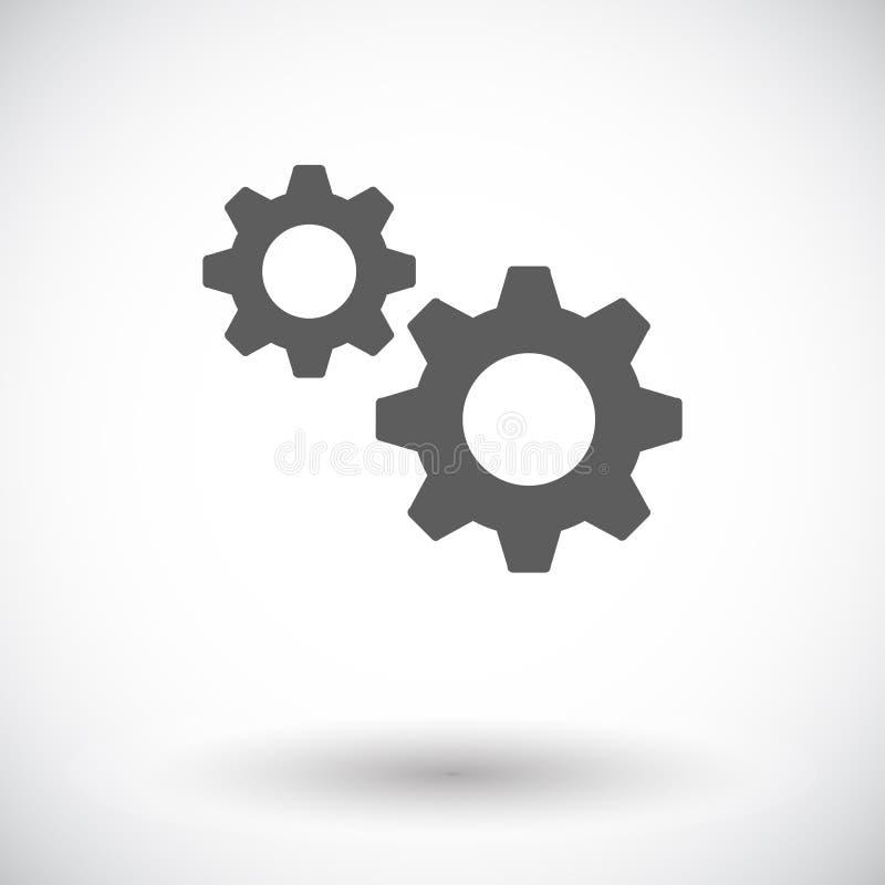 Ícone da engrenagem ilustração stock