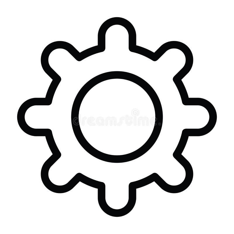 Ícone da engrenagem com estilo do esboço ilustração do vetor