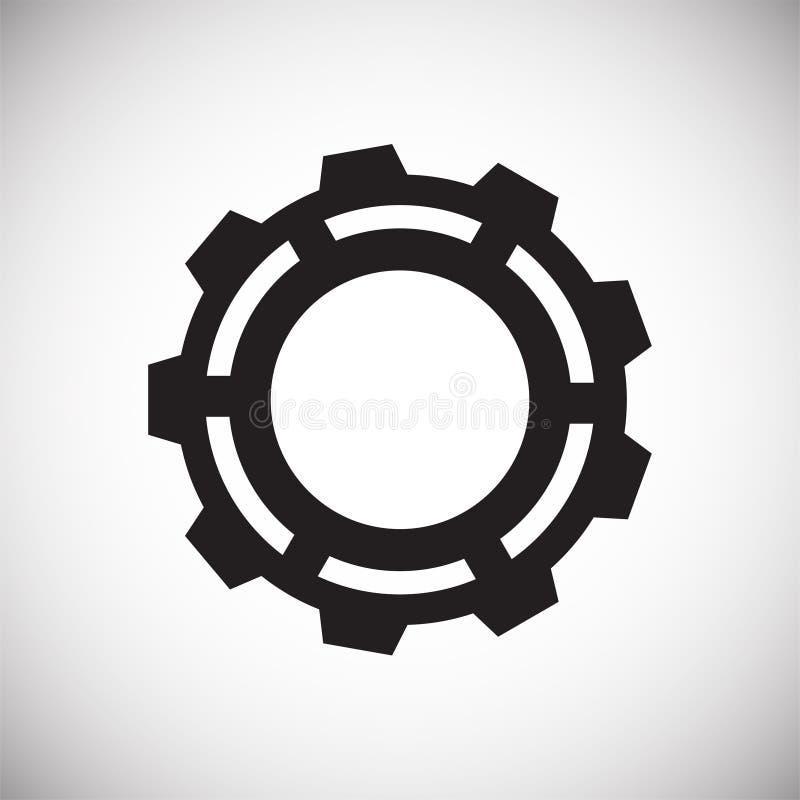 Ícone da engrenagem no fundo branco para o gráfico e o design web, sinal simples moderno do vetor Conceito do Internet Símbolo na ilustração royalty free