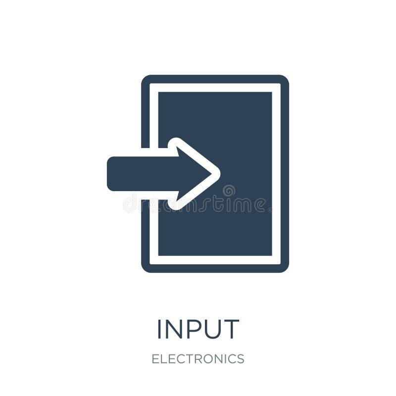 ícone da entrada no estilo na moda do projeto ícone da entrada isolado no fundo branco símbolo liso simples e moderno do ícone do ilustração royalty free