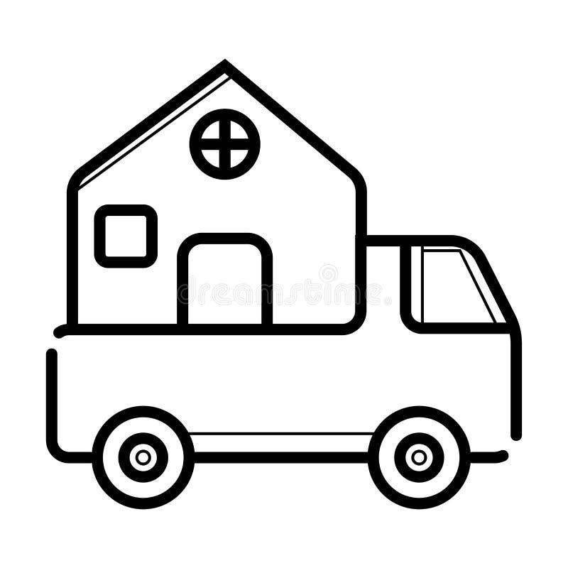Ícone da entrega a domicílio ilustração do vetor