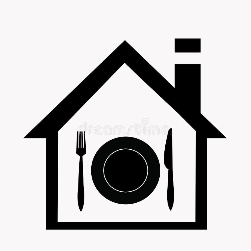 Ícone da entrega a domicílio do alimento ilustração royalty free