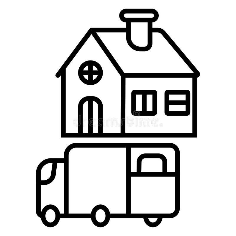 Ícone da entrega a domicílio ilustração royalty free