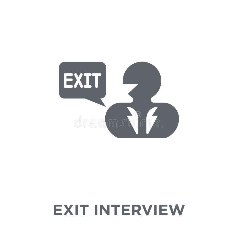 Ícone da entrevista de saída da coleção do managemnet do tempo ilustração do vetor