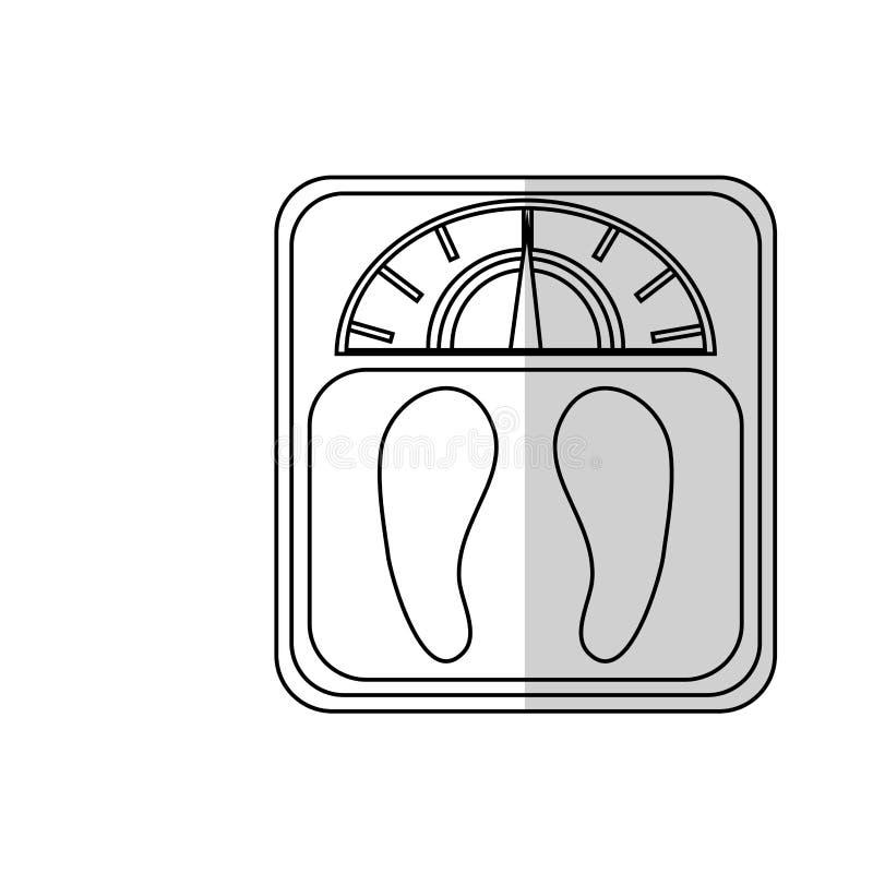 Ícone da escala do peso ilustração royalty free
