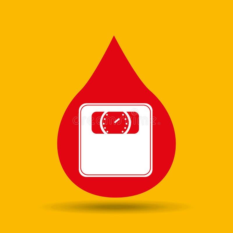 ícone da escala do peso dos cuidados médicos do símbolo ilustração do vetor