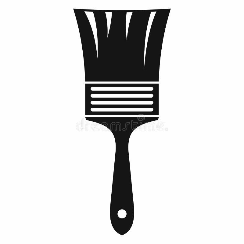 Ícone da escova de pintura, estilo simples ilustração royalty free