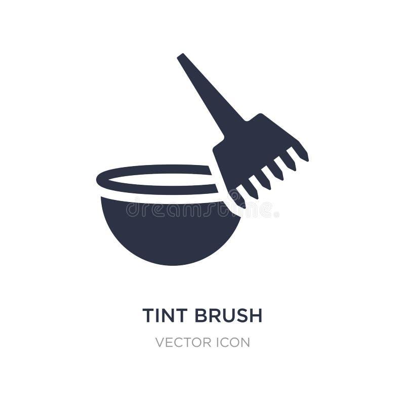 ícone da escova do matiz no fundo branco Ilustração simples do elemento do conceito da beleza ilustração stock